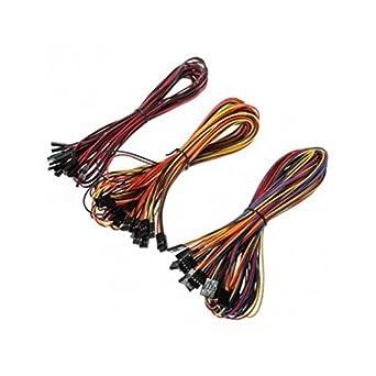 UEETEK 2 Pin / 3 Pin / 4 Pin hembra a hembra Jumper Cable de ...