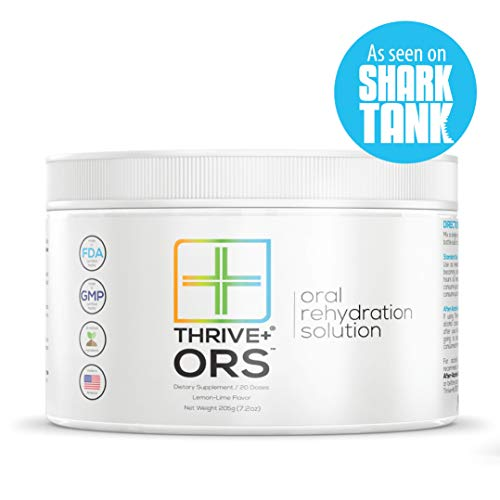 Thrive+ ORS Electrolyte Formula | Electrolyte Powder For Hangover Prevention & Alcohol Detox (20 servings)-Oral Rehydration Solution Hangover Drink-Delicious Lemon/Lime Rehydration Salts