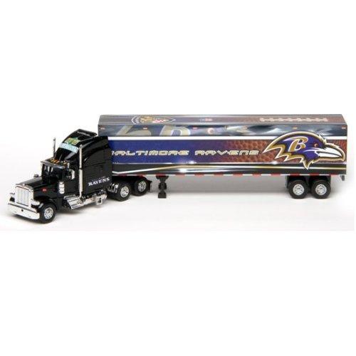 Baltimore Ravens Upper Deck Collectibles NFL Peterbilt Tractor-Trailer (Deck Trailer Tractor Upper Peterbilt)