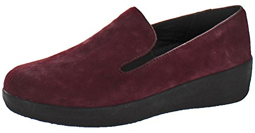 Loafers Cherry Superskate Women's Dark Leather Fitflop Flat AP7nn