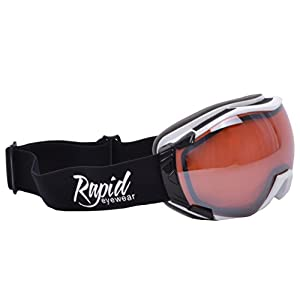 Rapid Eyewear Edmonton SKIING & SNOWBOARDING GOGGLES Double Lens Anti Fog. UV 400 Protection. Anti Glare Snow Winter Goggle: Adult Size for Men & Women. Also Ideal for Glacier Climbing