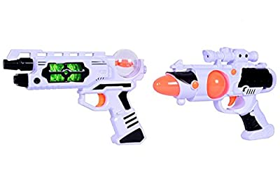 Space Wars Series: Planet Of Toys Space Weapon Set 2 Guns 24cms, 26cms Combo