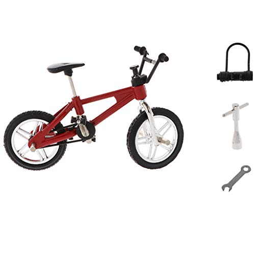 [해외]CUTICATE 1:24 Miniature Alloy Finger Bike Diecast Model Desk Gadget Toy Red / CUTICATE 1:24 Miniature Alloy Finger Bike Diecast Model Desk Gadget Toy Red