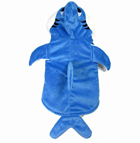 Gimilife Shark Cotton Tidy Costume for Cats Dogs (XL) - Pet Cat Shark Costumes