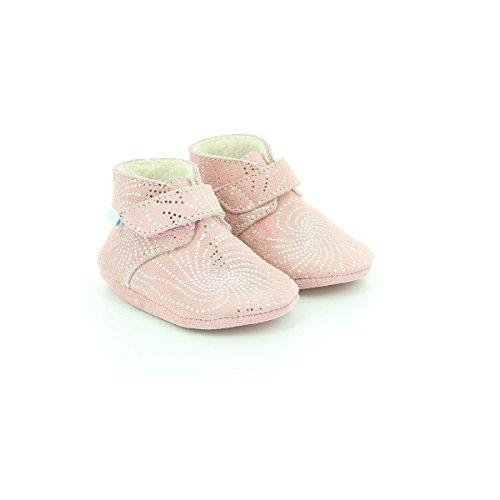 Polenord Mixte Robeez Naissance Chaussures Bébé Rose rose 13 De gx44Sq