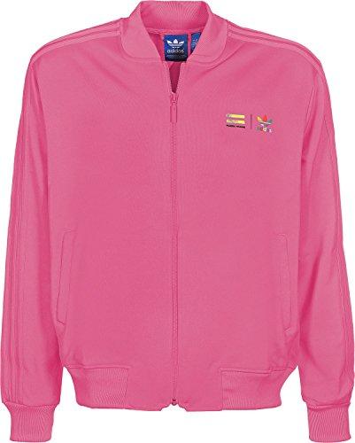 Track Top adidas �?Mono Color Superstar Rosa Semi Solar L rosa - rosa