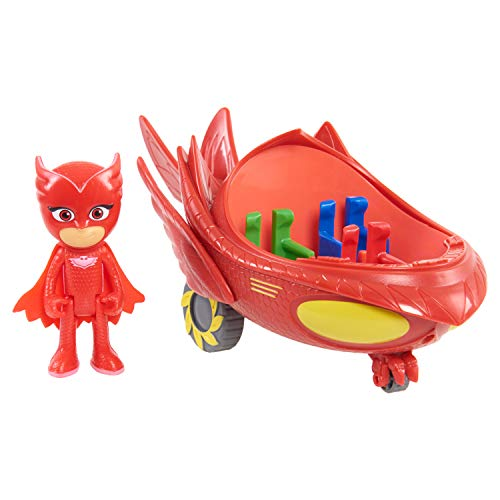PJ MASKS Vehicle Owlette Flyer, Red, One Size