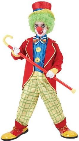 Clown - Disfraz de payaso para niño, talla 4-6 años (CC844)