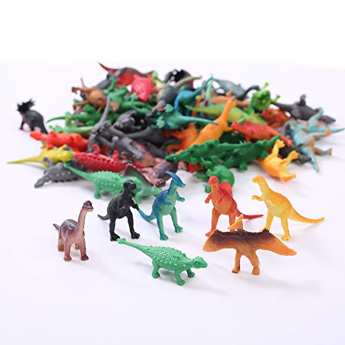 (Fun Central AU078 72ct 2 to 3 Inch Mini Vinyl Dinosaur Toys, Dinosaur Toys, Fun Toys, Animal Figures, Party Supplies for Kids, Dinosaurs Toys, Dinosaur Toys For Kids, Plastic Dinosaurs - Assorted)