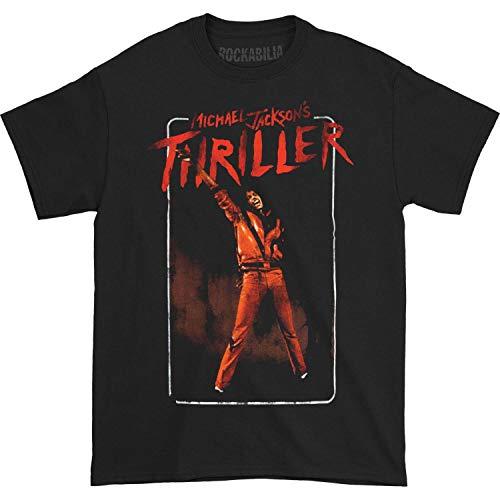 - Michael Jackson Men's MJ Thriller T-Shirt X-Large Black
