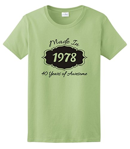 40th Birthday Gifts Made 1978 40 Years of Awesome Ladies T-Shirt