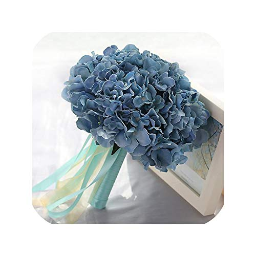 Gray Blue Wedding Bouquet Red Wedding Flowers Bridal Bouquets Mariage Wedding Accessories Artificial Wedding Bouquets,Gray Blue