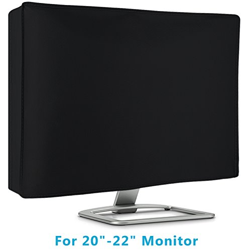 "Flat Screen Monitor Cover Full Body Sleeve for 20"" 21"" and 22"" LED LCD HD Panel, Scratch Resistance with cleaning cloth-Black"