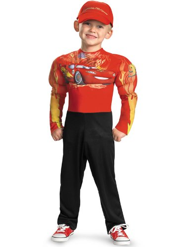 Lightning McQueen Costume Medium 7-8 Kids Halloween 2011 - Lightning Mcqueen Classic Muscle Kids Costumes