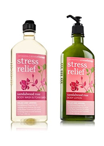 Bath & Body Works Body Wash and Body Lotion Set - SANDALWOOD ROSE