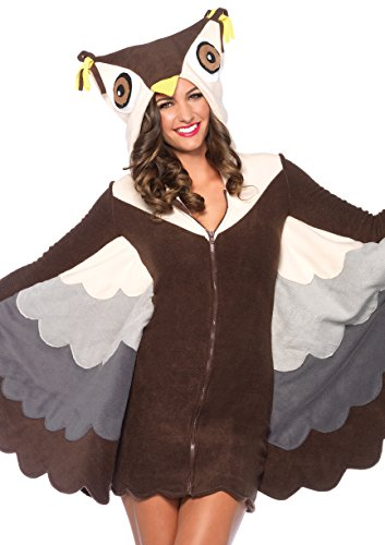 Leg Avenue Women's Cozy Owl Costume, Brown, (Adult Owl Halloween Costume)
