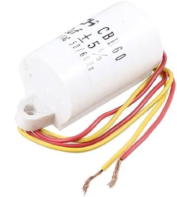 Lavadora 12uF 5% 50/60Hz AC 450V Motor Correr Condensador CBB60 ...