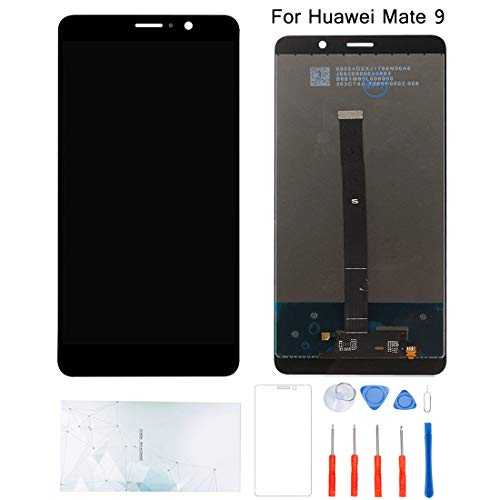 Kosuroum Screen Replacement Compatible for Huawei Mate 9 mate9 MHA-L09 MHA-L29 LCD Glass Display Touch Digitizer Assembly Tools (Black)