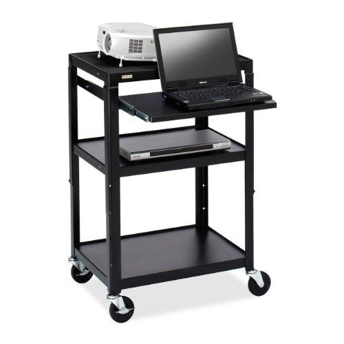 Bretford Top Shelf - Bretford Adjustable Projector Cart, 32-Inch by 24-Inch by 42-Inch, Black