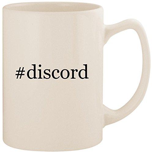 - #discord - White Hashtag 14oz Ceramic Statesman Coffee Mug Cup