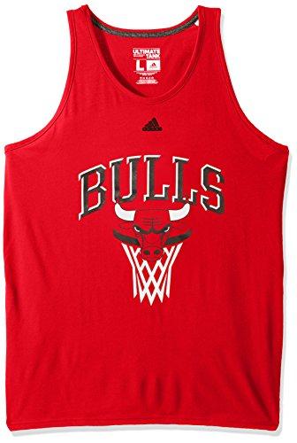 NBA Chicago Bulls Adult Men Bank Shot Climate Ultimate Tank, Large, Red