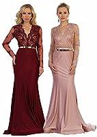 Formal Dress Shops Inc by FDS7624 Long Sleeve Formal Prom Dress