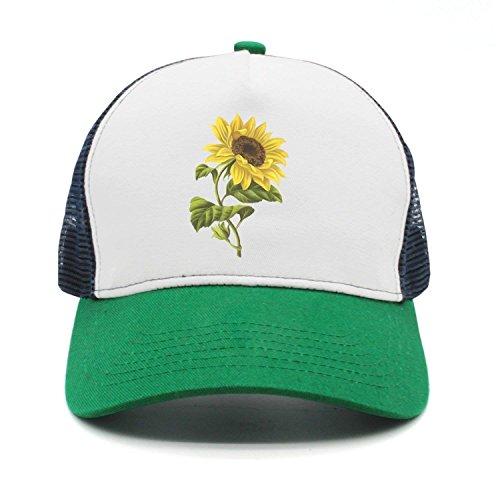 ACD&TV Personality Caps HatsSunflower Clipart Baseball Cap Velcro Adjustable Unisex ()