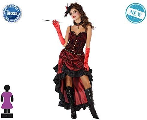 Atosa-61412 Atosa-61412-Disfraz Cabaret-Adulto Mujer, Color rojo ...