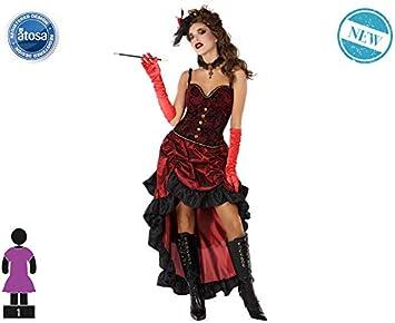 Atosa-61411 Atosa-61411-Disfraz Cabaret-Adulto Mujer, Color rojo ...