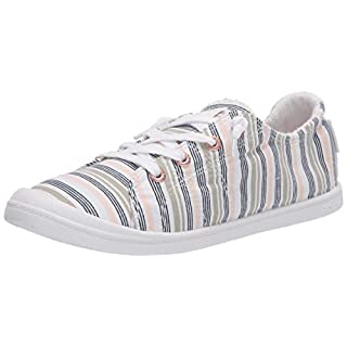 Roxy Women's Bayshore Slip on Shoe Sneaker, Novel Peach, 6 M US