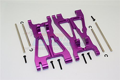 HPI Savage 21, X, XL, K4.6, Flux Upgrade Parts Aluminum Front/Rear Adjustable Lower Arm With Screws & Pins & Delrin Collars - 1Pr Set Purple (Lower Arms Savage)