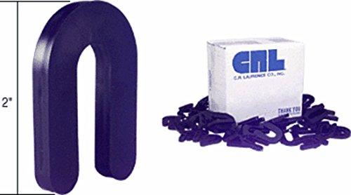 Black 1/4 x 2 Plastic Horseshoe Shims Pack of 100