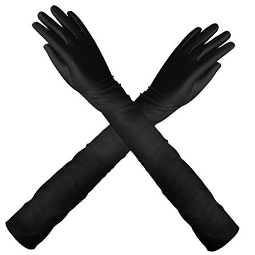 long black fancy dress gloves - 4