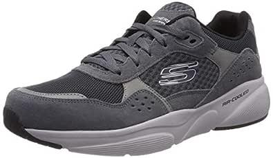 SKECHERS Meridian, Men's Road Running Shoes, Grey (Charcoal Grey), 9.5 UK (44 EU)