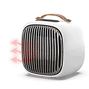 LIIYANN Fan Heater, Mini Ceramic Fan Heater Portable Electric Heater with 3 Heating Modes, Thermostat, Tilt And Overheat Protection, Energy Saving Operation for The