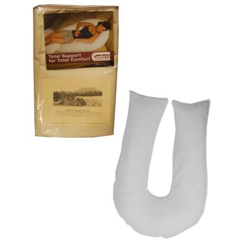 Image of Home and Kitchen Comfort-U Total Body Full Support Pillow and an Additional 100% Cotton Natural Pillowcase(Package includes 2 Pillowcases)
