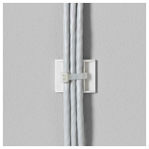 Ikea Cable Management Bundle Includes - Two Ikea Signum Cable Management Horizontal (Silver, 27 ½'') and One Ikea Fixa (114 Piece Cable Management Set) by IKEA (Image #3)