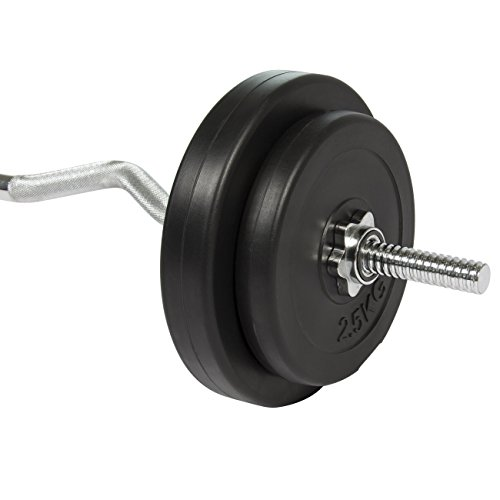 Best Choice Products 56LB Curl Bar Barbell Weight Set Gym Lift Exercise Workout
