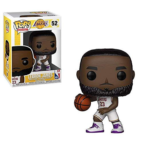 Pop! Basketball Lakers - Lebron James (White Uniform) 52 Vinyl Figure, Multicolor, Estandar