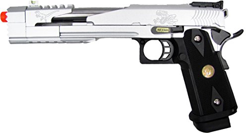 we hi-capa 7 dragon silver gas/co2 blowback full metal(Airsoft Gun) by WE