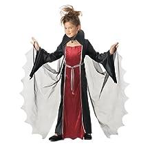 Vampire Girl Child Costume, Size Medium Plus