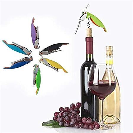 Abrebotellas Parrot Cuchillo Sacacorchos De Acero Inoxidable Para Latas Frascos Vino Tinto Botellas De Cerveza Bar Herramientas 10 Colores
