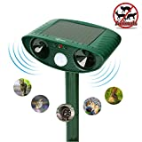 ZOVENCHI Ultrasonic Animal Pest Repeller, Outdoor Solar Powered Pest and Animal Repeller