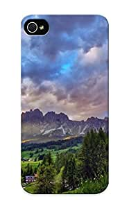 Hard Plastic ipod touch5 Case Back Cover, Hot Superb Mountain Landscape Case For Christmas's Perfect Gift