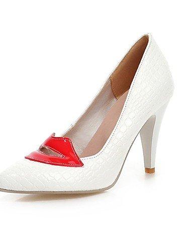 GGX/Damen Schuhe PU Sommer/spitz Toe Heels Büro & Karriere/Casual Stiletto Heel Split Gemeinsame Schwarz/Weiß black-us9.5-10 / eu41 / uk7.5-8 / cn42