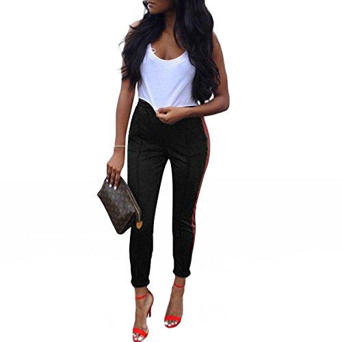 Skinny Femmes Pencil Black Long Fashion Noir Pantalon Qhdz Causal f01Rwq6II