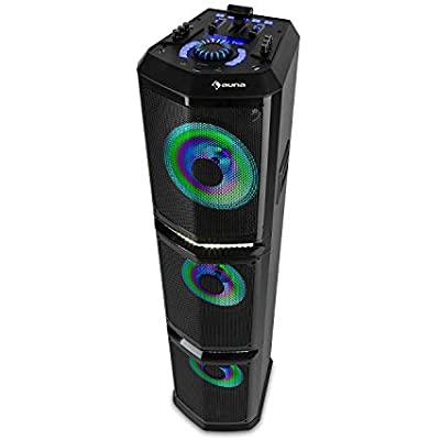 AUNA Clubmaster TripleBeat Party Station Output  250 Watts max  XMR Bass Technology   25 5 cm  Subwoofer  Bluetooth  USB port  Radio  MP3 Compatible  LCD Display  Colour  Black