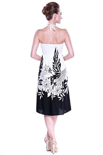 4ba7a67cb1 Wasserfall Kleid Sommer Sundress Hawaiian Kleid in Indri Schwarz 0GGpp1V ...