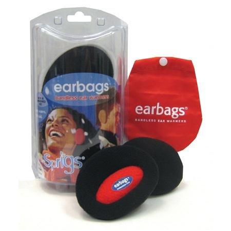 Earbags Bandless Fleece Ear Warmers, MD, Blue