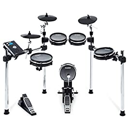 Alesis Command Mesh Kit | Electronic Drum Kit with Mesh Heads, Chrome Rack & Command Drum Module with 70 Kits, 600…